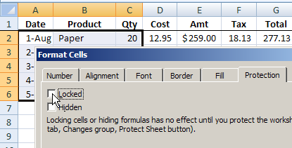 Excel faq application and files protect the worksheet in excel 2007 ibookread PDF