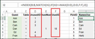 seating plan formula