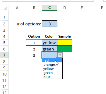 advanced excel conditional formatting show list and colors
