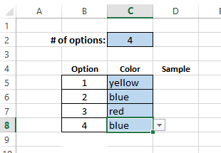 formatted color cells
