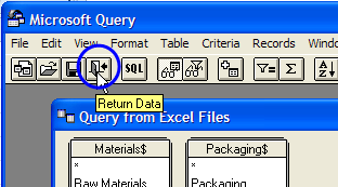 send the data to Excel