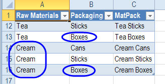 updated query results table