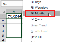 create a list of months