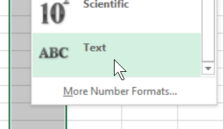 number format text