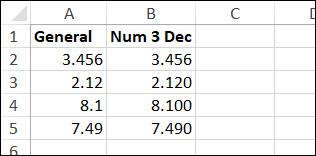 number format decimals