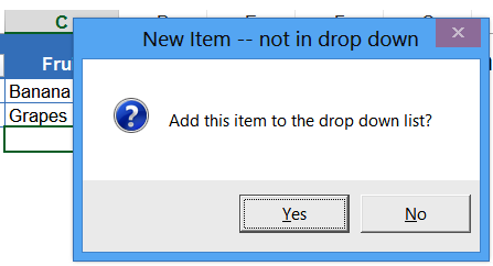 Excel drop down lists add new items down list in alphabetical order data validation confirm add item ibookread Download