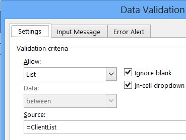 data validation confirm add item