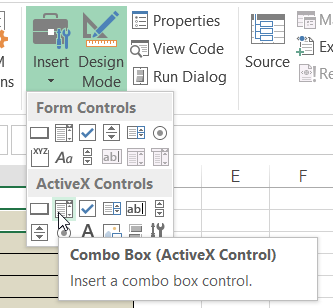 Excel Data Validation Combo box using Named Ranges