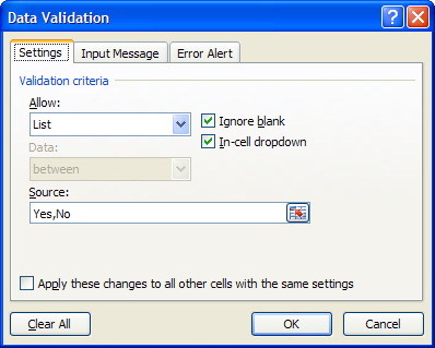 excel data validation list  Excel Drop Down Lists - Data Validation