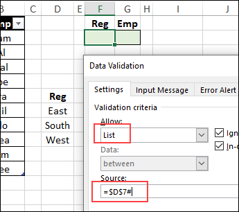 set up data validation