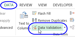 Excel data validation custom date format