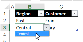 dependent drop down lists
