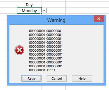 how to make an error message