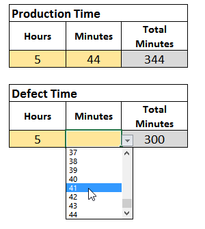 Excel Data Validation Hours and Minutes