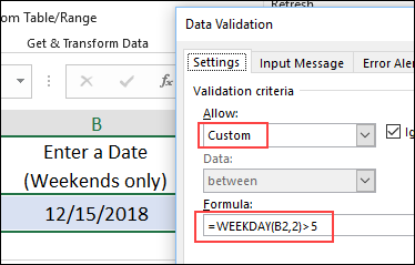 Data Validation Custom Rule