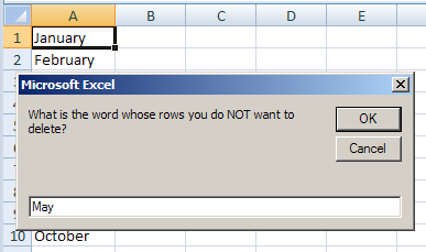 enter word to not delete