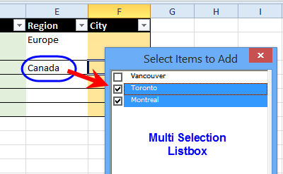 multi select listbox
