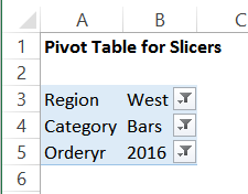 pivot table with report filters