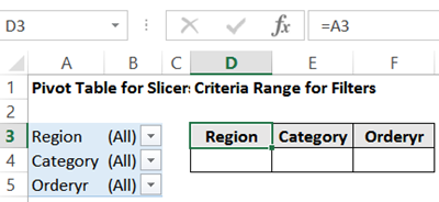 How to Use Slicers With Excel Advanced Filter