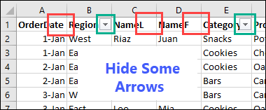 some arrows are hidden
