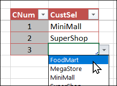 add a new customer in criteria table