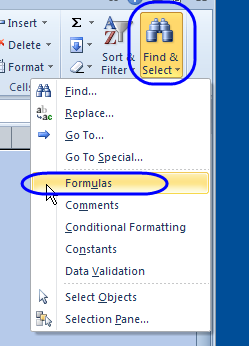 Find Formulas