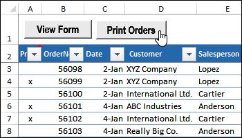 print selected orders