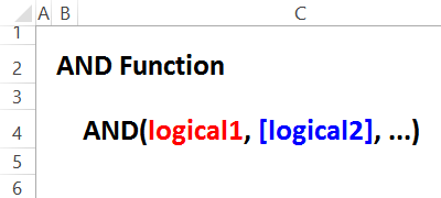 AND function syntax