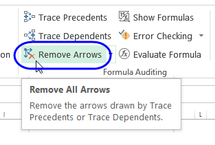remove arrows command