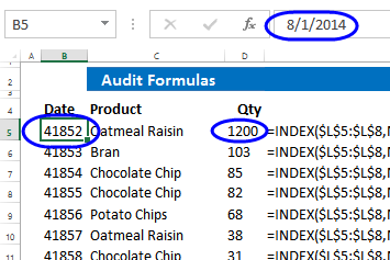 date and number formatting removed