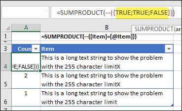 sumproduct formula