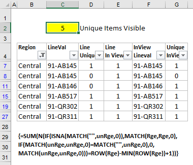 count filtered list with aggregate function to ignore errors