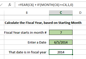 fiscal year calculation