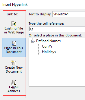 Excel Hyperlinks and Hyperlink Function