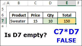 if function checks for empty cell