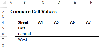 empty grid to check values