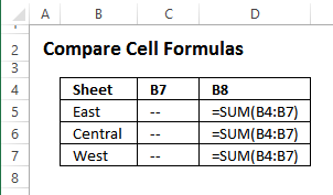 test the FORMULATEXT function