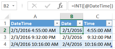 How to Split Excel Dates and Times