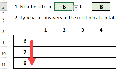 create a number sequence