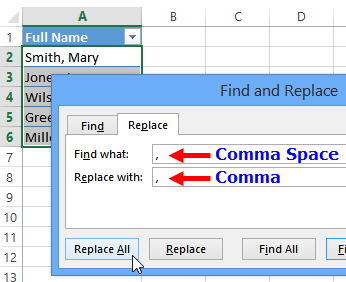 How to Split Names in Excel