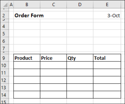 how to create stripe order form