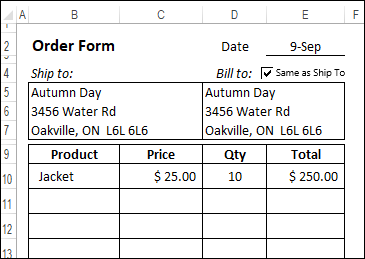 check box on order form runs a macro