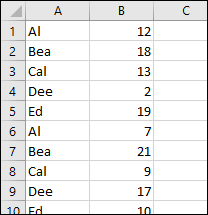 names with randomly assigned numbres