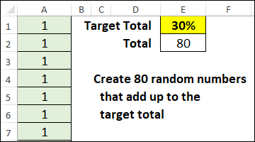 random numbers with specific total