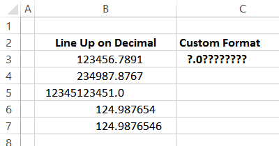round with formatting custom format examples