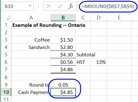 How to use excel rounding functions for Floor function example