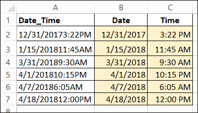 date and time with no separator