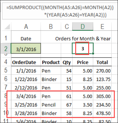 Excel Count multiple criteria