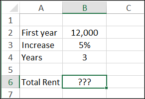 Calculate total rent