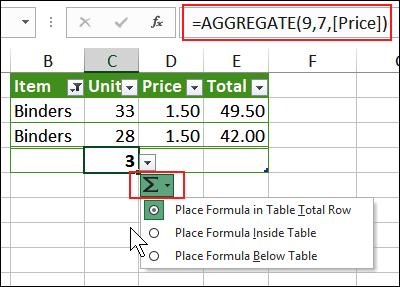 choose location for formula
